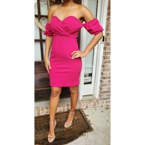 NWT! Bright Pink Sexy Boutique Sweetheart Dress